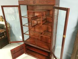 Etagere Antique Vintage Chinese Rosewood Etagere Cabinet