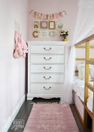 a pink white u0026 gold shabby chic glam girls u0027 bedroom reveal