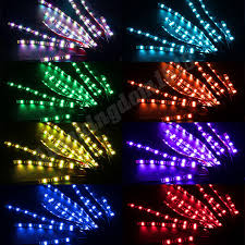 12pc motorcycle led neon under glow lights strip kit for harley