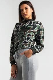 adidas crop top sweater camo athletic crewneck drawstring sweatshirt top adidas