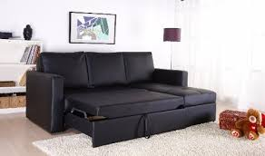 Right Sectional Sofa Black Faux Leather Sectional Sofa Bed With Right Facing