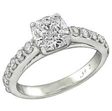 1 Carat Cushion Cut Engagement Ring 1 06 Carat Cushion Cut Diamond Engagement Ring For Sale At 1stdibs