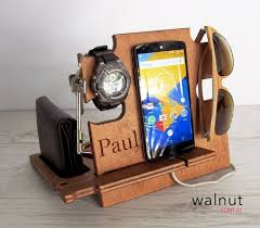 Personalized Desk Organizer by Amazon Com Personalized Gift Docking Station Gift Him Charging