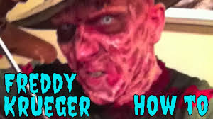 how to do a freddy krueger make up tutorial with latex for