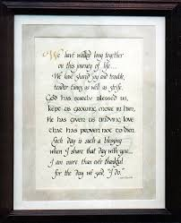 60th wedding anniversary poems personalized custom calligraphy and wedding anniversary