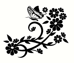 fancy floral designs with butterflycustom made decal wall window fancy floral designs with butterflycustom made decal wall window car truck trailer sea