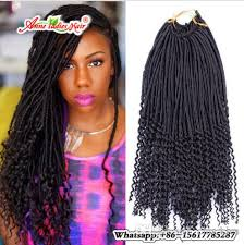 crochet black weave hair 22inch faux locs curly crochet hair extensions crochet goddess