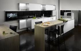 Black White Kitchen Island Interior Design Ideas by Simple Kitchen With Contemporary And Black White Floor Futuristic
