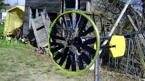 simple home made wind turbine from bike wheel in the wind youtube