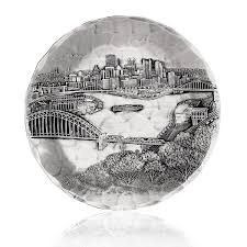 Wendell August Jewelry Amazon Com Wendell August Forge Pittsburgh Cityscape Coaster