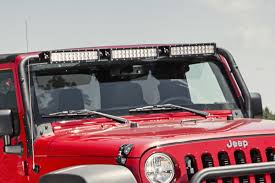 light bar jeep windshield led light bar kit 07 17 jeep wrangler jk jeepmania