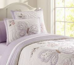 Pottery Barn Kids Quilts Pottery Barn Kids Gabrielle Butterfly Twin Quilt New Lavender