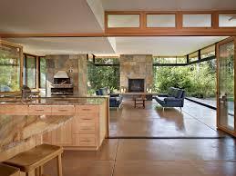 Mediterranean Kitchen Bellevue - indoor outdoor carpet patio contemporary with custom architect