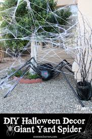 How To Make Halloween Decorations At Home Diy Halloween Yard Decor Giant Spider In Spiderweb