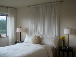 How To Make A Light Curtain Bedroom Magnificent How To Make A Curtain Headboard U2014 A Modern