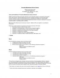 managed service contract template with maintenance service
