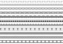 ornamental border vector pack free vector stock