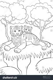 coloring pages wild animals smiling mother stock vector 622558295