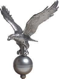 flagpole eagle ornament pewter liberty flags the american wave r