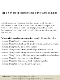 Resume Sample Executive by Top8nonprofitexecutivedirectorresumesamples 150406202034 Conversion Gate01 Thumbnail 4 Jpg Cb U003d1428369688