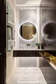 the mix of modern and classic in italian marble bathroom home