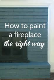 How To Finish A Fireplace - painting a fireplace craft diy room decor and decorating