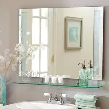 Frameless Bathroom Mirror Large Mirrors Astonishing Frameless Rectangular Mirror Rectangular