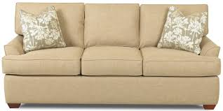 Klaussner Sleeper Sofa Klaussner Grady Contemporary 3 Seat Queen Innerspring Sleeper Sofa