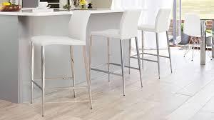 4 legged bar stools modern bar stool black or white elegant chrome tapered legs