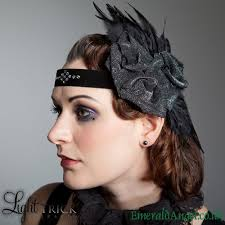 1920s headband swarovski feather roses flapper 1920s headband emeraldangel on