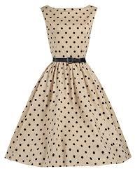 vintage midi dress navy blue white polka dot red belt