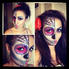 Skeleton Face Paint For Halloween by Dia De Los Muertos Day Of The Dead Sugar Skull Tutorial Youtube