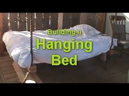 how to make a hanging bed wooden hammock porch swing bed youtube