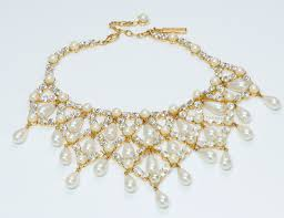 crystal pearl necklace images Dolce gabbana crystal pearl necklace dsf antique jewelry jpg