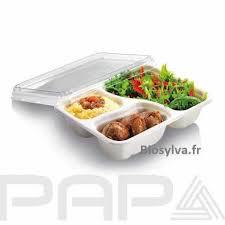 ustensile cuisine bio barquette alimentaire bio pelliculee a compartiment et simple