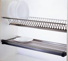 kitchen cabinet plate storage drying rack with slide out drip tray id pinterest drip tray