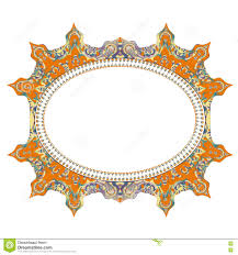 vintage cards frame with floral mandala pattern and ornaments