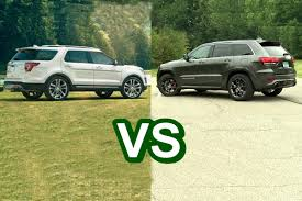 ford jeep 2015 2016 ford explorer vs 2016 jeep grand cherokee design youtube
