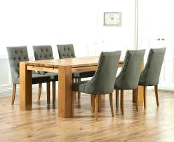 Oak Dining Table And Fabric Chairs Dining Table With Fabric Chairs Furniture Carved Wooden