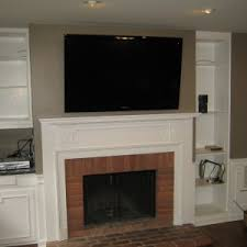 Mounting A Tv Over A Gas Fireplace by Fireplace Installing Mounting Tv Above Fireplace For Home Ideas