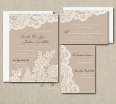 wedding invitations lace 100 personalized custom rustic vintage lace wedding invitations