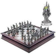 fantasy chess set danbury mint chess set fantasy of the crystal chess set ebay