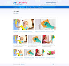 website template 45537 cleaning company services custom website