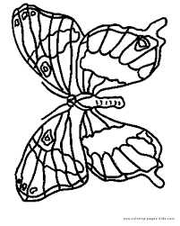 butterfy printable coloring page for kids butterfly