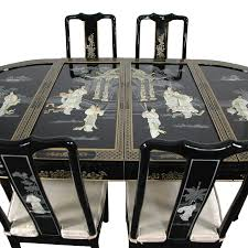 Lacquer Dining Room Sets  Rio Dining Room Set White - Black lacquer dining room set