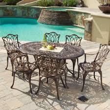 Aluminum Dining Room Chairs Gardena Outdoor 7pc Cast Aluminum Dining Set U2013 Gdf Studio