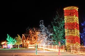 trail of lights denver christmas on the farm stock photo image of silo colors 31697150