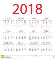 Kalender 2018 Helgdagar Kalender 2018 Vektor Illustrationer Bild Av Plan Vitt 76281294