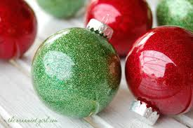 glitter ornaments handmade with clear plastic bulbs the ornament