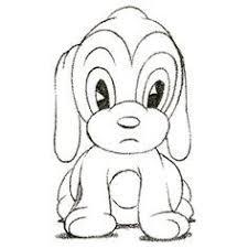 drawings of cartoon animals draw cartoon puppy very cute ツ